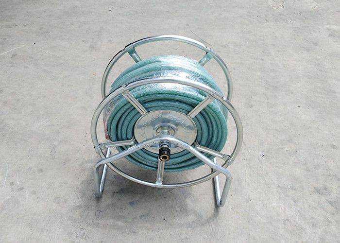 30m Silver Manual Hose Reel Easy Installation Compact Size And Easy Handling